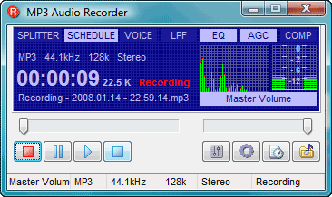 Pistonsoft MP3 Audio Recorder Free Screenshot 1