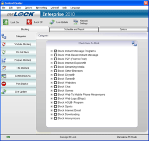Comvigo Internet Filter and Firewall Pro Screenshot