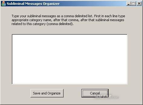 Subliminal Messages Organizer Screenshot 2