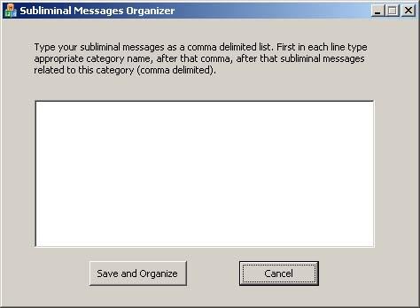 Subliminal Messages Organizer Screenshot 1