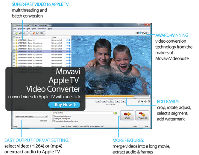 Movavi Apple TV Video Converter Screenshot 1