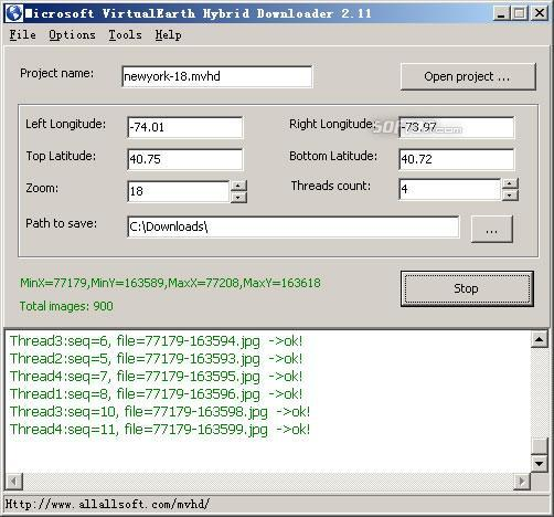 Microsoft VirtualEarth Hybrid Downloader Screenshot 3