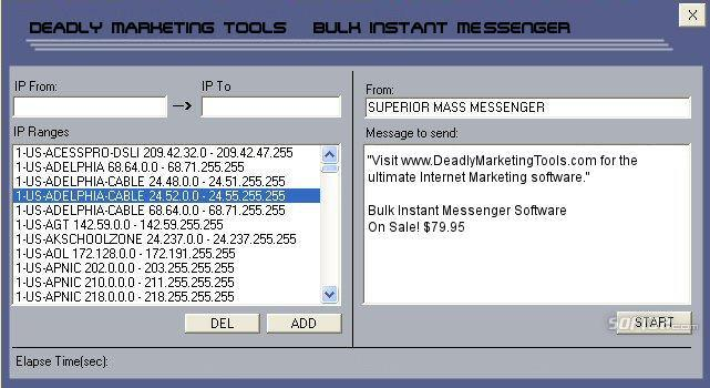 Deadly Marketing Tools Screenshot
