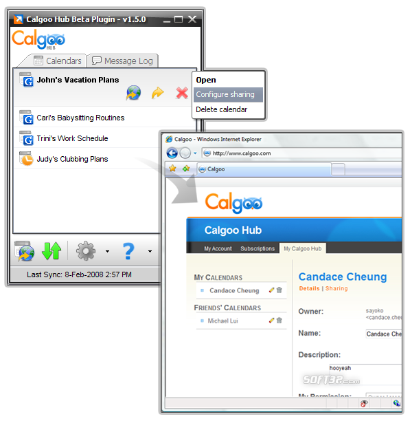 Calgoo Hub plugin Screenshot