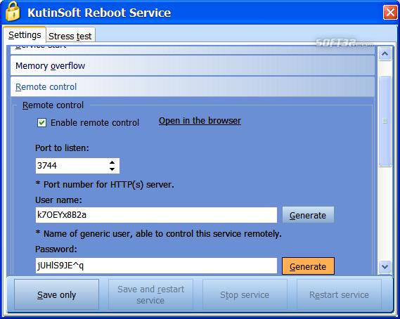 Reboot Service Screenshot 3