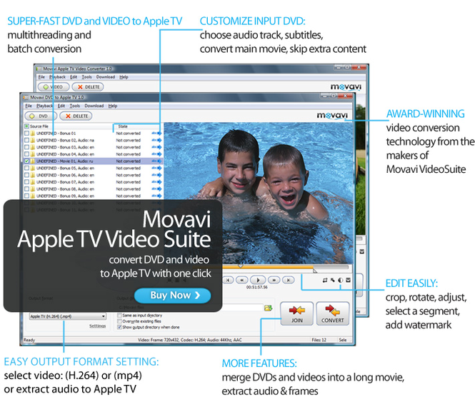 Movavi Apple TV Video Suite Screenshot