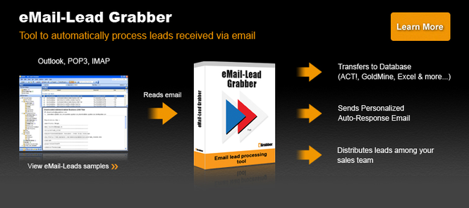 eMail-Lead Grabber Business Screenshot