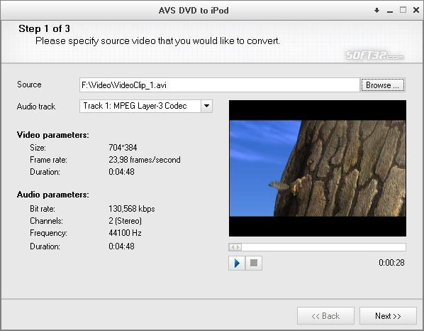 AVS Video to iPod Screenshot 2