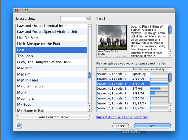 Torrent Episode Downloader Screenshot