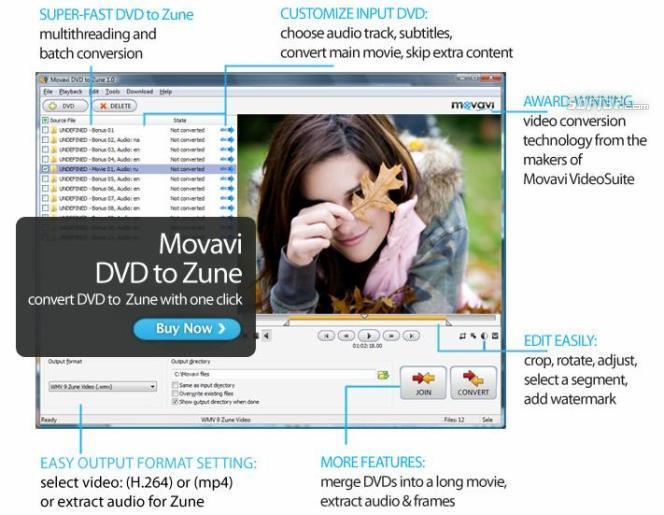 Movavi DVD to Zune Screenshot 2