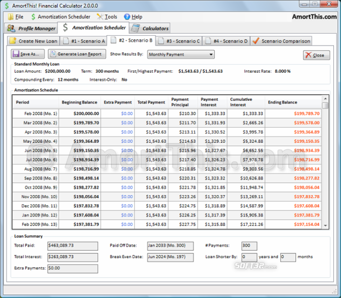 AmortThis! Financial Calculator Screenshot