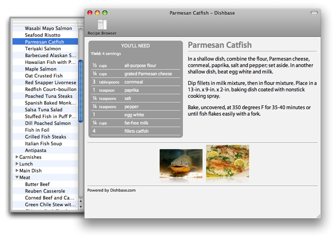 Dishbase for Mac Screenshot