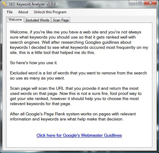 SEO Keyword Analyzer Screenshot 1