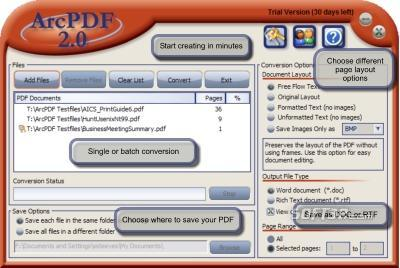 ArcPDF Screenshot 2