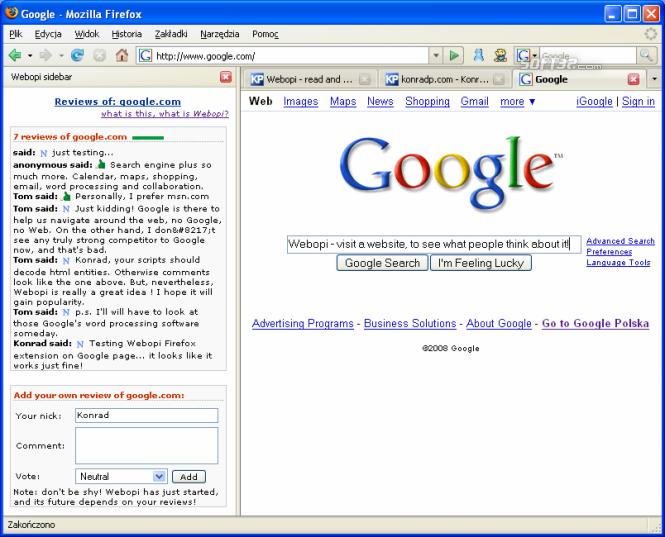 Netopi Firefox extension Screenshot 2