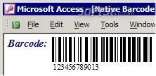 MS Access Barcode Integration Kit Screenshot 2