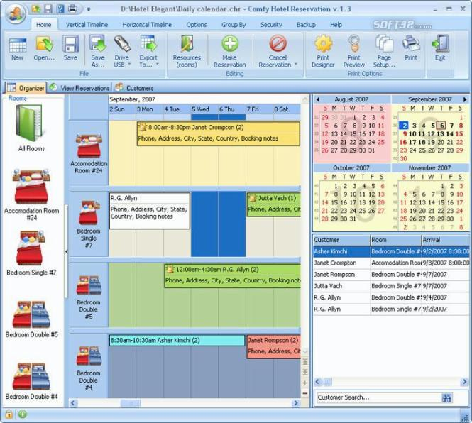 Comfy Hotel Reservation for Workgroup Screenshot 2