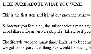 Self Hypnosis Ebook Screenshot 1