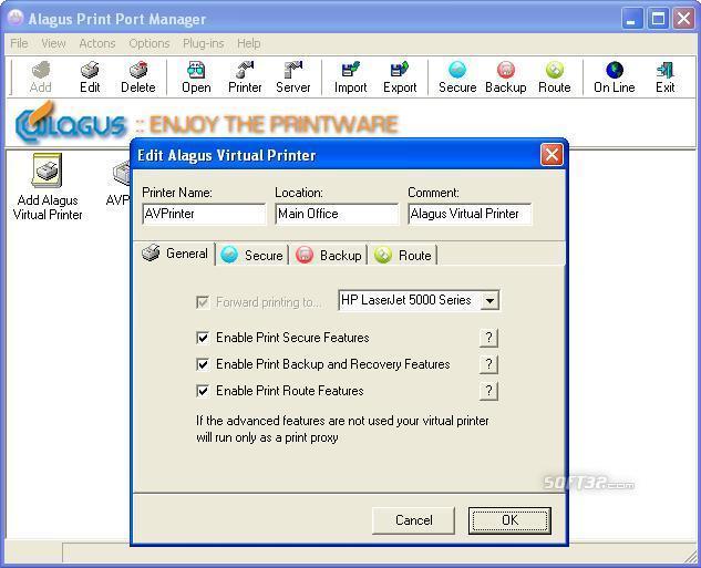 Alagus Print Port Manager Screenshot 2