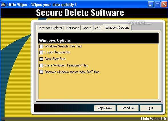 Secure Delete Software Screenshot