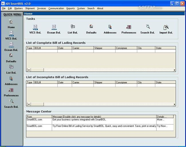 SmartBOL Bill of Lading Software Screenshot 3