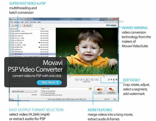 Movavi PSP Video Converter Screenshot 3
