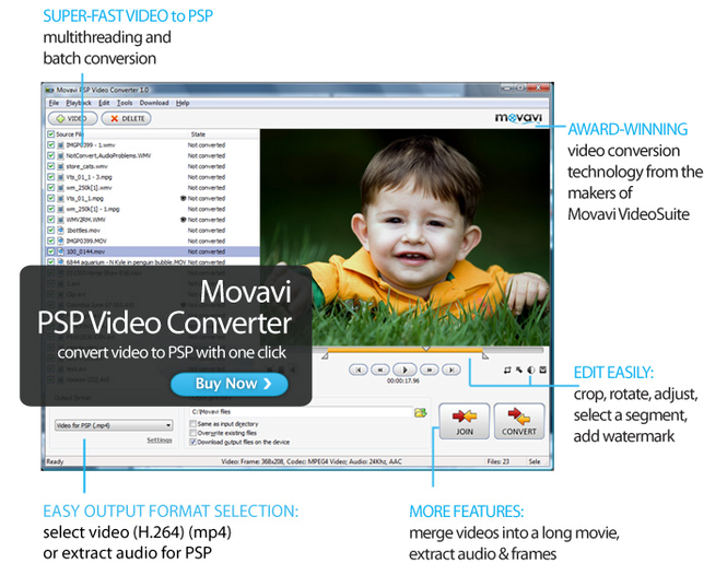 Movavi PSP Video Converter Screenshot 1