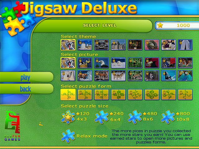 Jigsaw Deluxe Screenshot 1