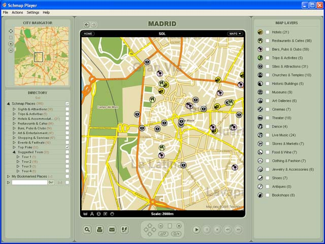Schmap Europe for Mac Screenshot