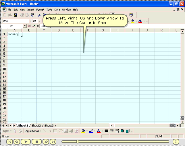 MS Excel 2000 Totorial Screenshot
