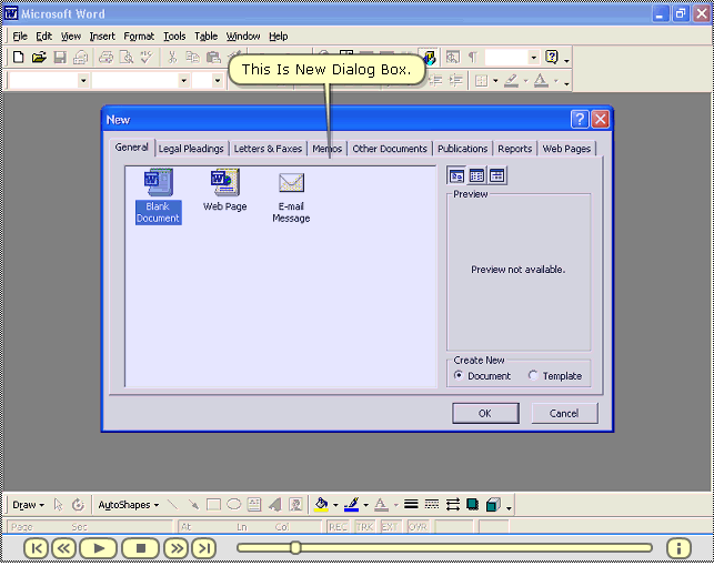 MS Word Tutorial Screenshot