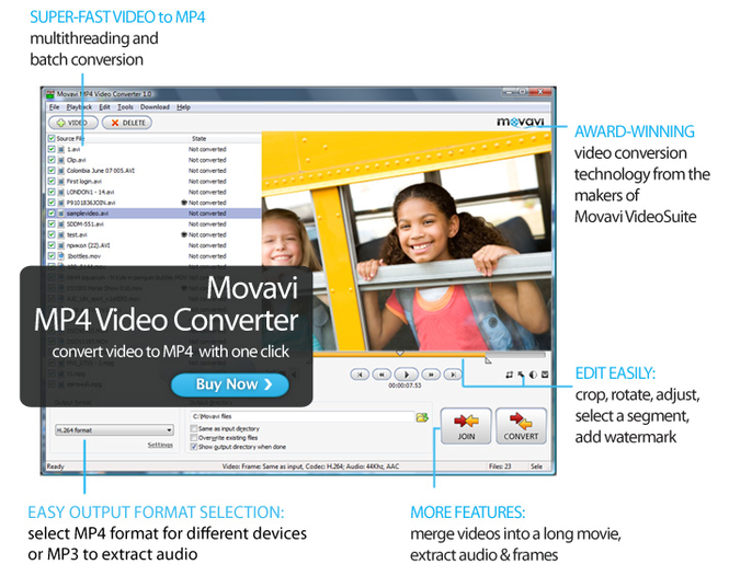 Movavi MP4 Video Converter Screenshot