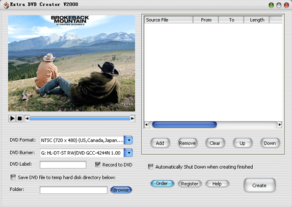 Extra DVD Creator Screenshot