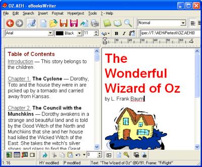 eBooksWriter PRO Screenshot 1