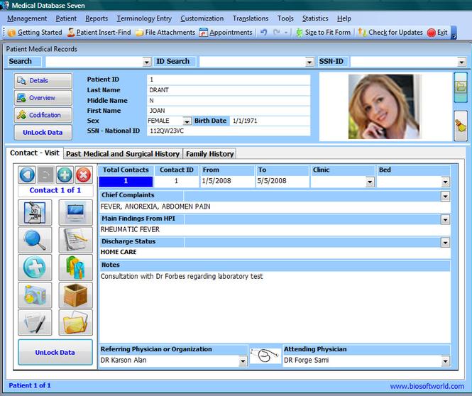 Medical Database Seven Screenshot 1
