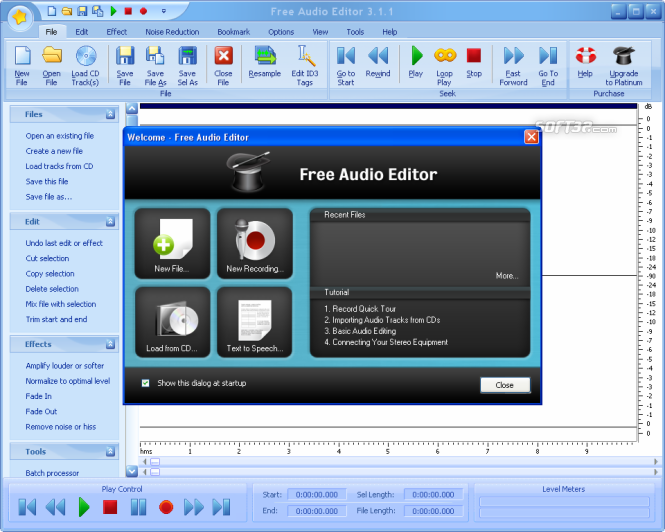 Free Audio Editor 2014 Screenshot 3