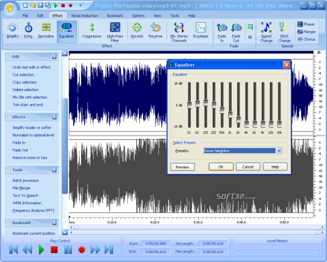Free Audio Editor 2014 Screenshot 4