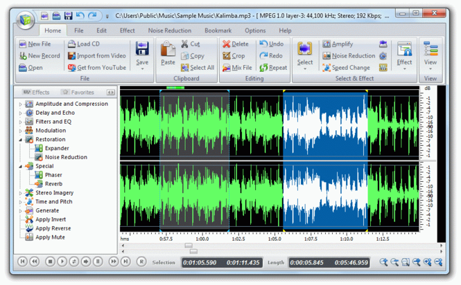 Free Audio Editor 2014 Screenshot