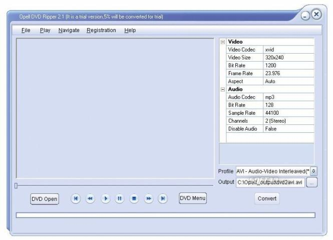 Opell DVD to Blackberry 3GP Converter Screenshot 2