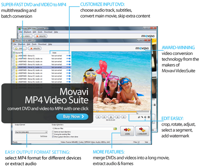 Movavi MP4 Video Suite Screenshot
