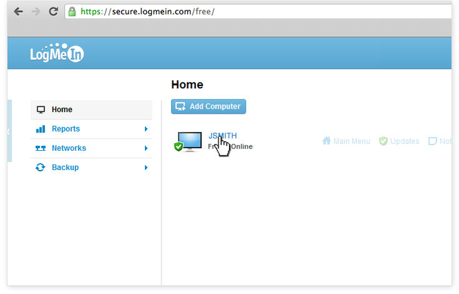 LogMeIn Screenshot 1