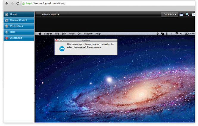 LogMeIn Screenshot 2