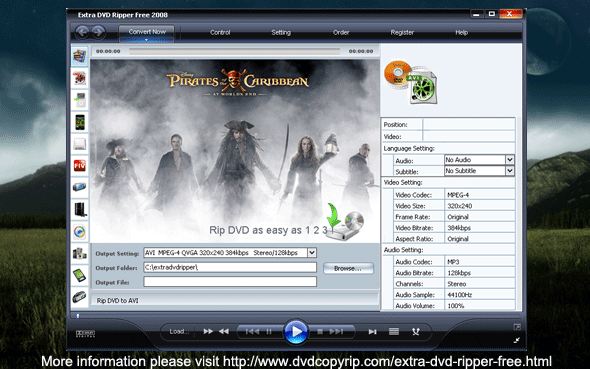 Extra DVD Ripper Free Screenshot