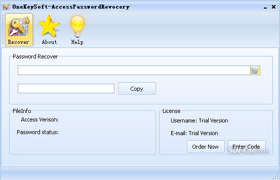 AccessPasswordRecovery Screenshot