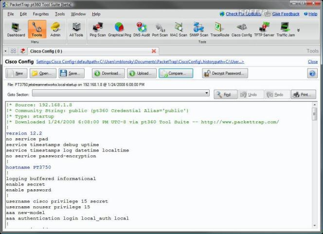 Free PacketTrap Cisco Configurator Screenshot 2