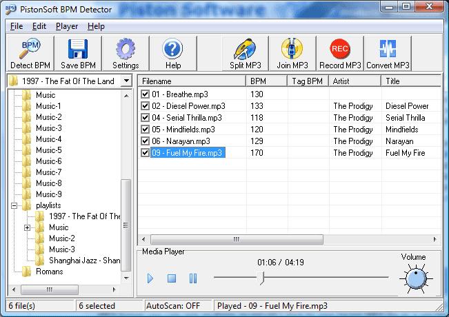 Pistonsoft BPM Detector Screenshot