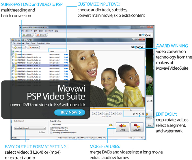 Movavi PSP Video Suite Screenshot 1