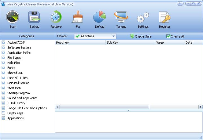 Wise Registry Cleaner 4 Pro Screenshot