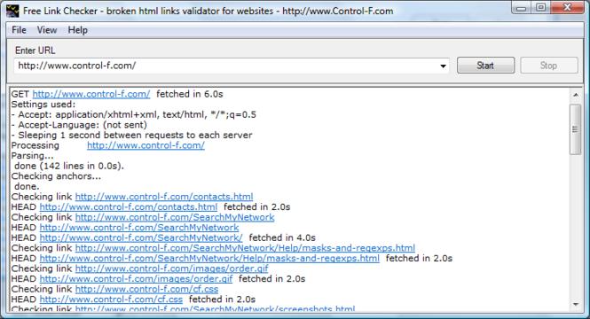 Free Link Checker Screenshot 1