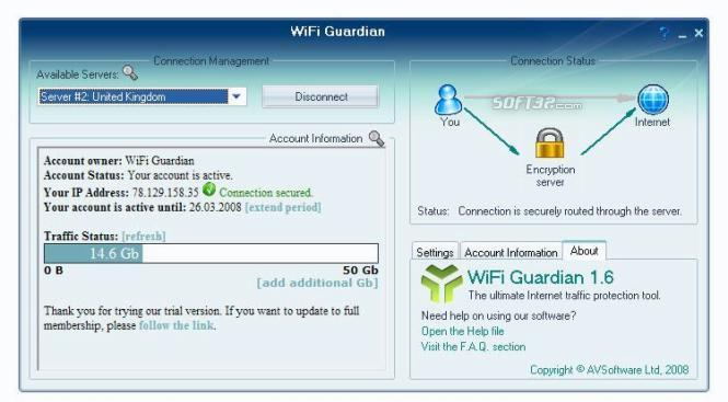 WiFi Guardian 2009 Screenshot 3